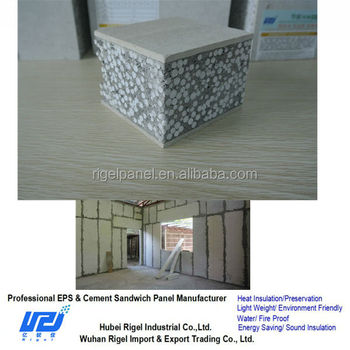 Fiber Cement Board Composite Wall Panel Expandable Polystyrene