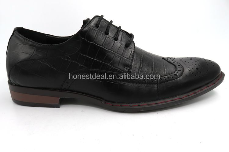 RS472-7 Guangzhou Factory Pointed Wingtip Formal Men's Dress Leather Shoes
