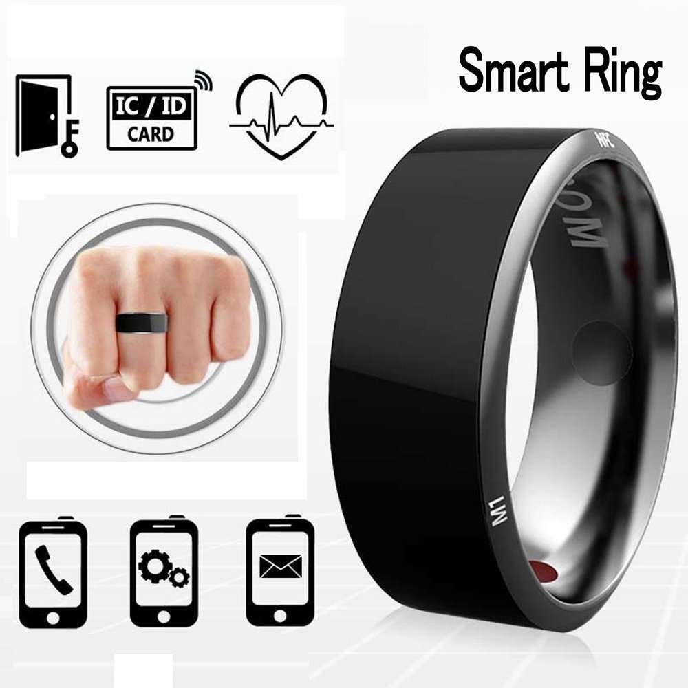 Efanr R3 Smart Ring, Waterproof Dust-proof Fall-proof Wearable Magic App Enabled Rings for NFC Enabled Mobile Cell Phones Android Smartphones (Size 8)