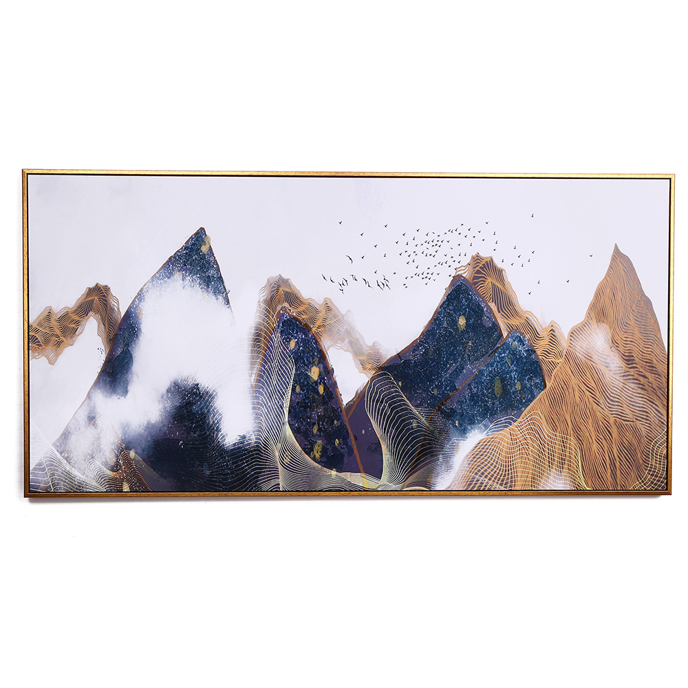 Early Morning Cloud Fog Deep Mountain Ink Impressionism Village Landscape Mountain Paintings Decor
