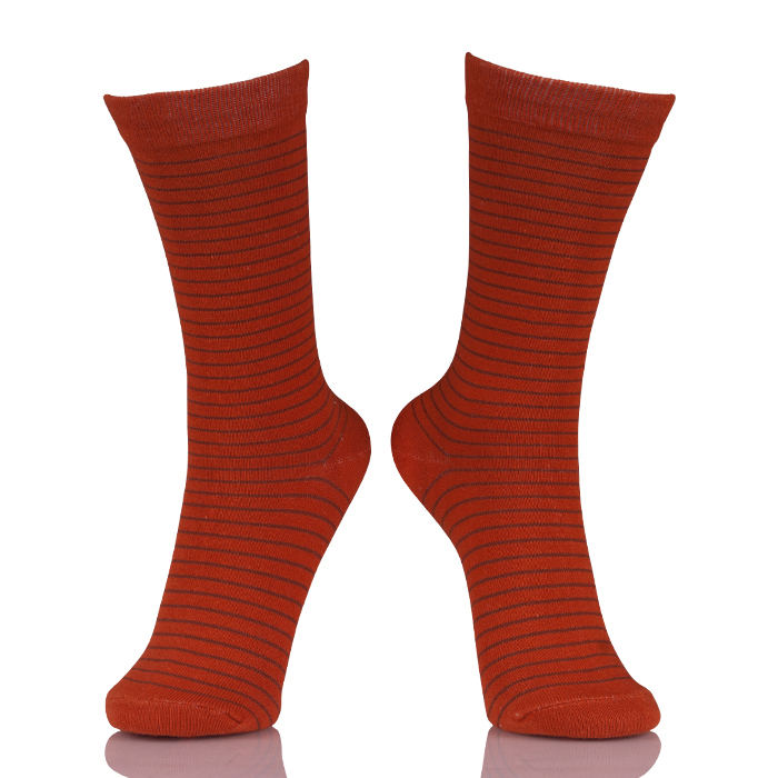 Wholesale Red Tube Women Socks Striped
