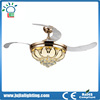2017 Popular design Invisible fan blade ceiling fan with crystal light remote control 2 years warranty