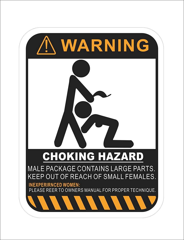 HJG - Coking Hazard Warning Vinyl Danger Hard Hat Sticker Graphics Decals
