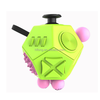 Latest Version Fidget Cube 20 Interesting High Quality 12 Sided Spinner Anti Irritability Toy Magic
