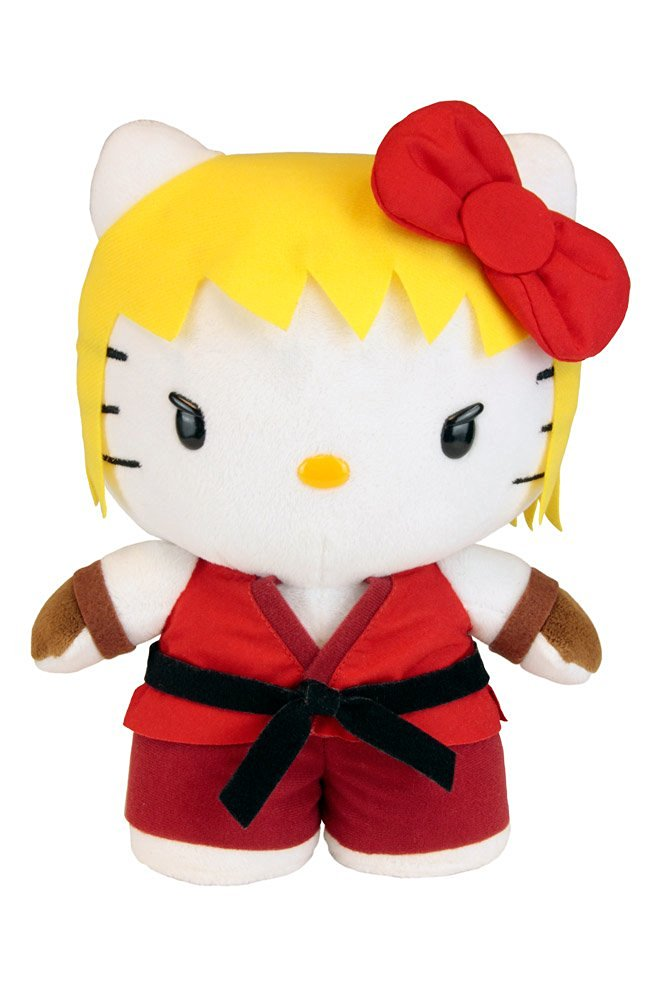 Toynami Street Fighter X Sanrio Ken Hello Kitty Plush, Large/10""