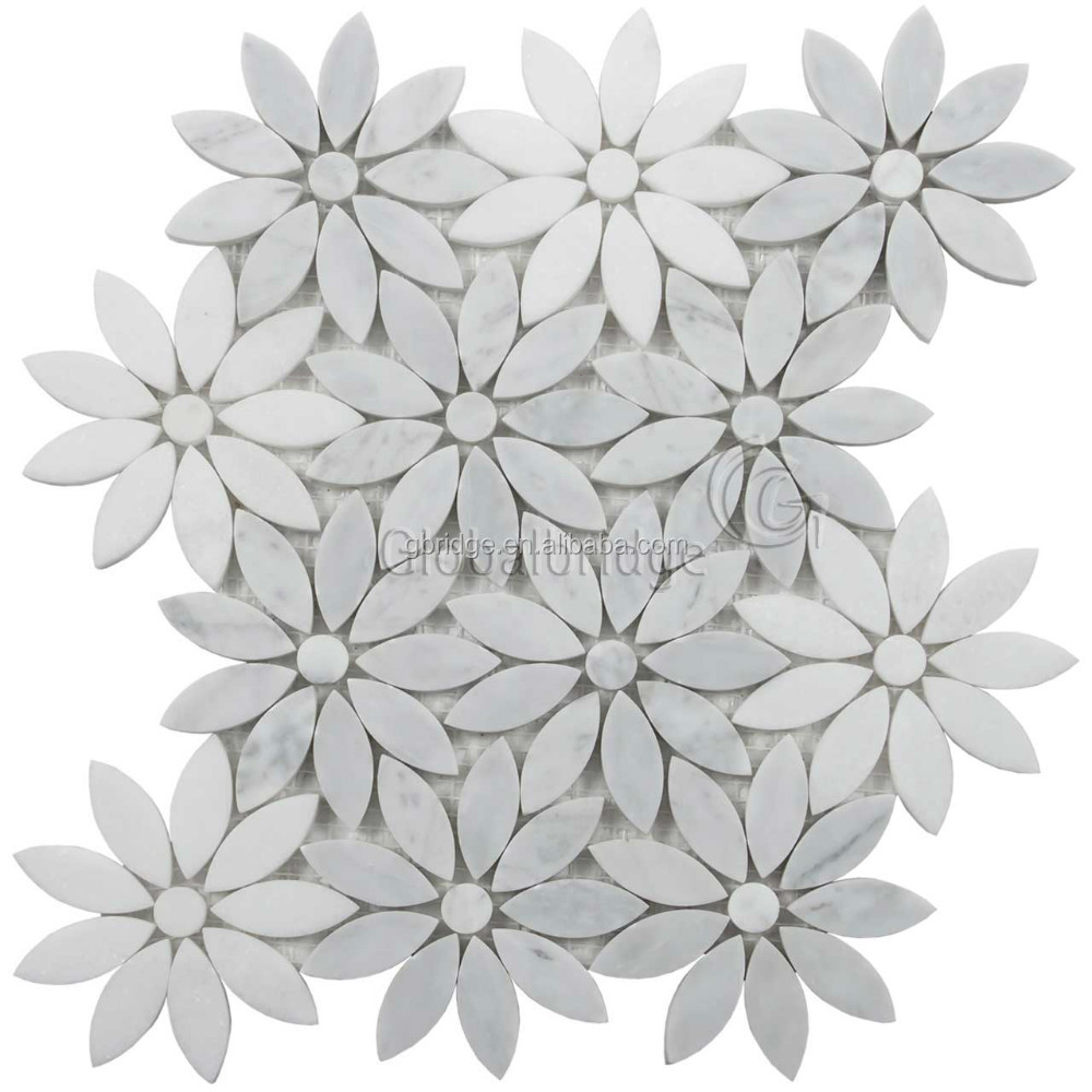 Flower Mosaic Tile Stone Marble Wall Product On Alibaba