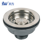 1.5 inch high quality sink strainer drain system for handmade sink with SUS304 stainless steel
