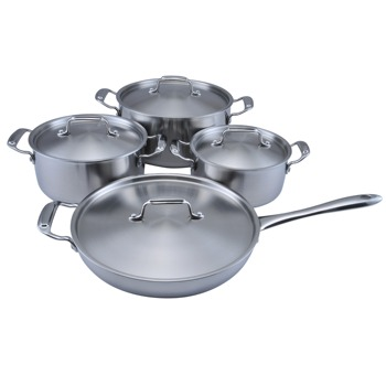 tri ply stainless steel cookware set-Induction plate stainless steel cookware- kitchen cookware set