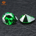 Manufacturer pear shape emerald green cubic zirconia stone price