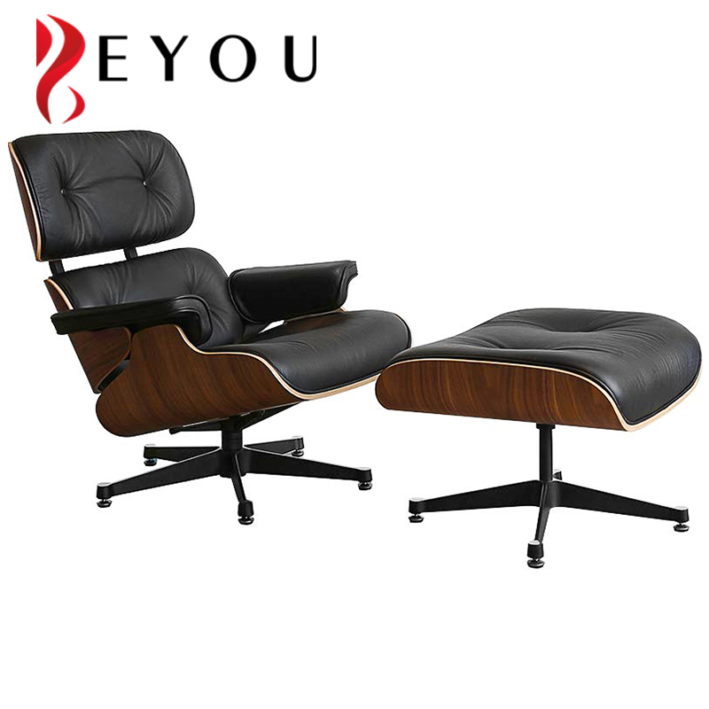 Italian lounge armchair high back reclining leather computer desk swivel office chair with footrest