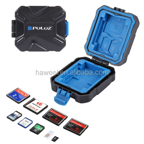 factory PULUZ 9 in 1 Memory Card Case with Strap for 2XQD + 2CF + 2TF + 3SD Card