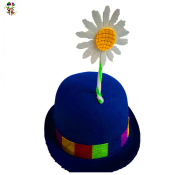 Cheap Funny Adult Fancy Dress Clown Party Hats With Flower HPC 3333