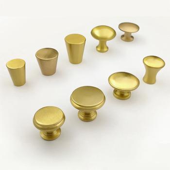 Simple Gold Cabinet Brass Knob, Kitchen Drawer Knob C 0306
