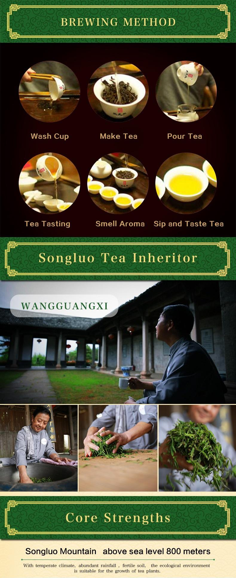 Chinese top ten famous green tea Huangshan Mao Feng tea for export