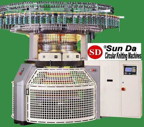 SUNDA Single Jersey Electronic Jacquard Striper Knitting Machine