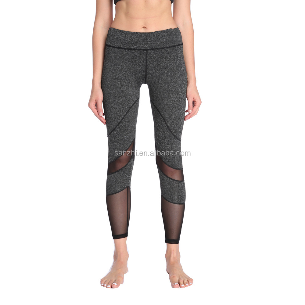 Women High Waist Printing Pants Sports Yoga Gym Fitness Workout Leggings Sports Trouser