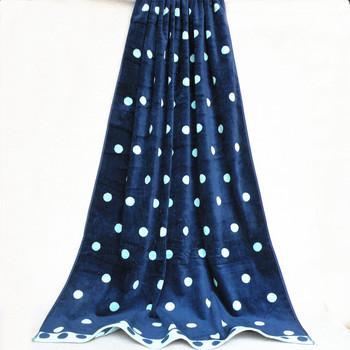 Whole Yarn Dyed Satin Clic Polka Dot Pattern Thick Beach Towels