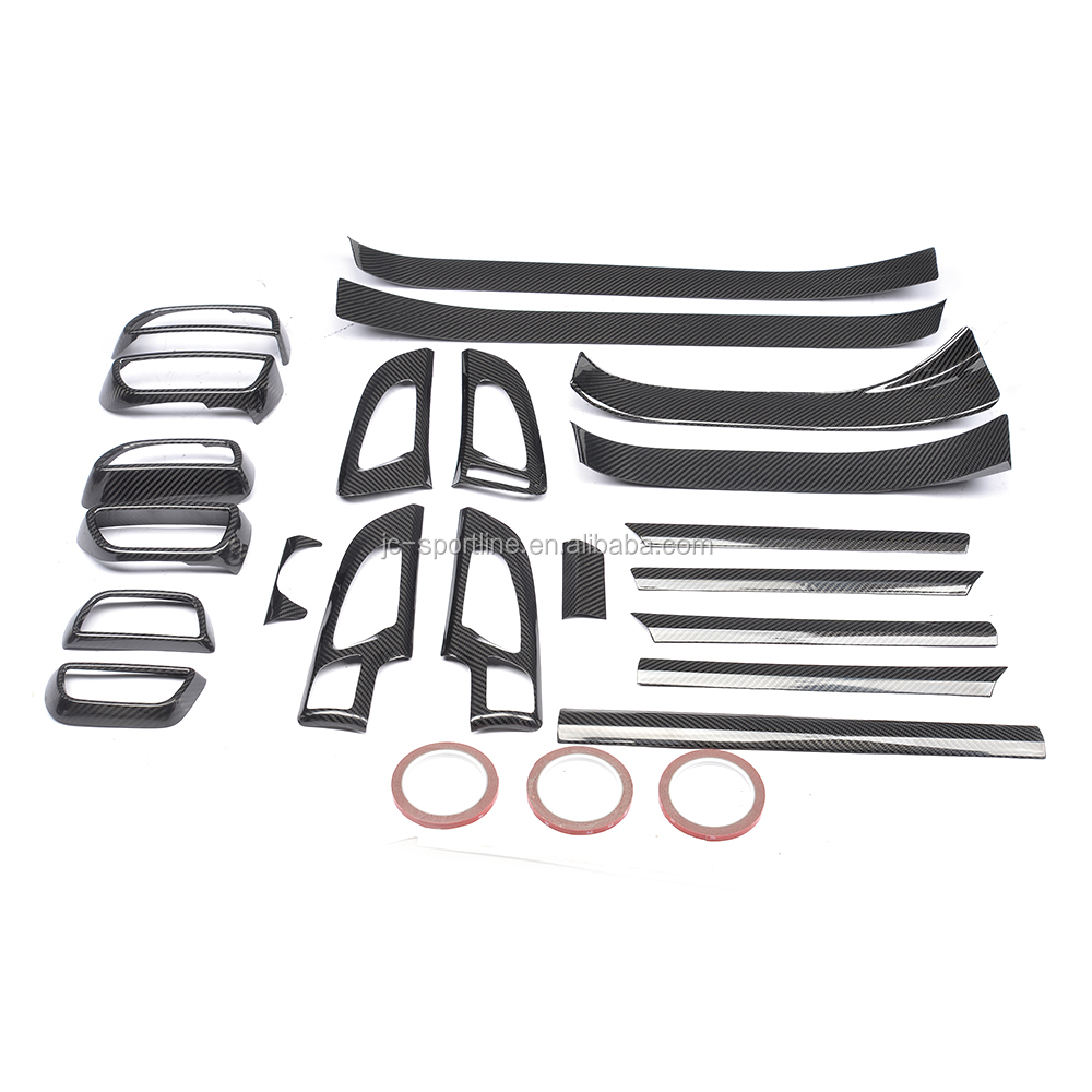 Dry Carbon Fiber Interior Dashboard Panel Trims for Porsche Cayenne GTS Turbo Sport 15-17 21pcs/set