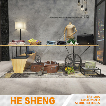 Display table group. clothing store fixtures. industrial style HA01L04