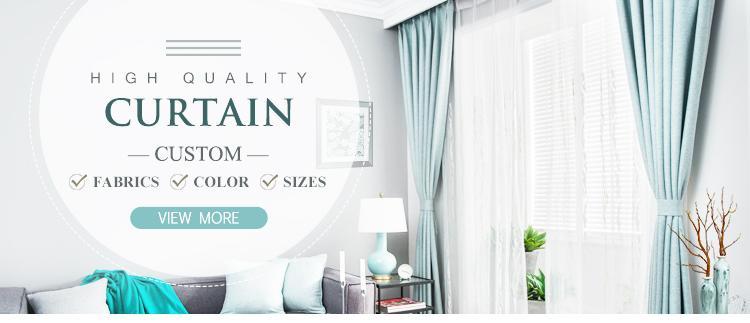 Estilo Europeo 100% poliéster ventana impreso apagón cortinas de la ventana y cortinas