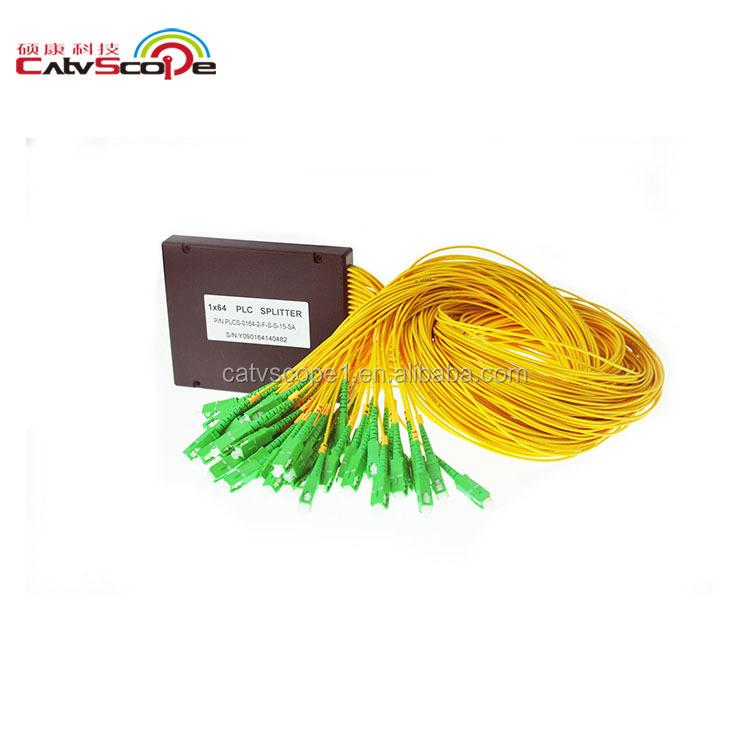 1x64 Plc Splitter Optical Coupler Fiber Optical Plc