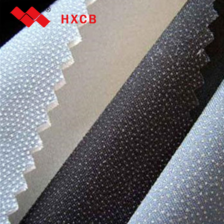 Good Stretch 100 Polyester Fusible Adhesive Garment Woven Interlining Fabric
