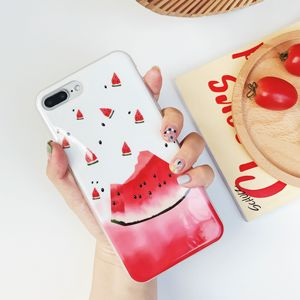 Watermelon lemon soft phone cases covering protective for iphone 6 7 8 X XS XR max