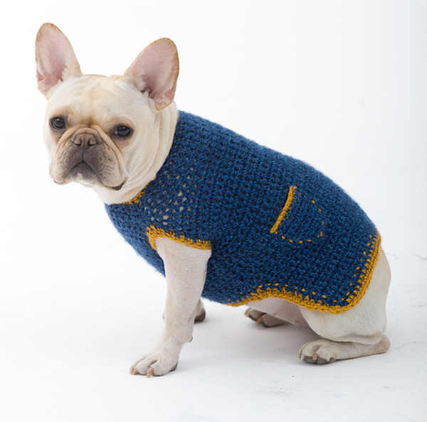 Hand Knitted Patterns For Dog And Cats Coats : Cute Button Crochet Dog Clothes Hand Knit Dog Sweater - Buy Crochet Dog Cloth...