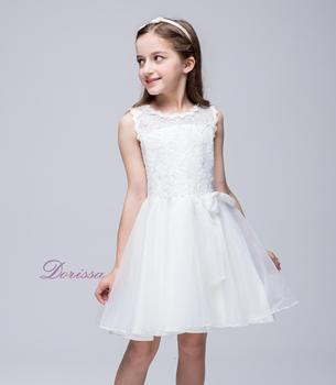 A178 Flower Girl Dress For Fat Girl Red Black And White Satin And