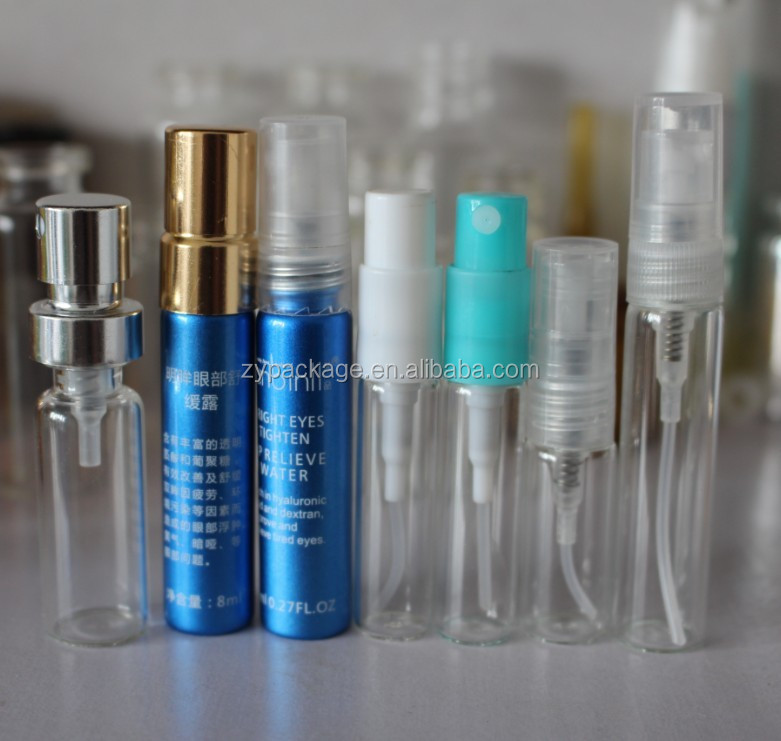 Perfume Tester Samples: 2ml Glass Spray Bottle Perfume Tester Sample Bottle