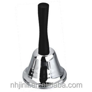 silver steel hand call bell for hotel