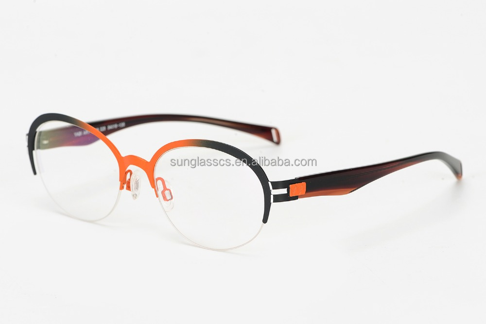 Marcos redondos anteojos metal inoxidable marcos ópticos Eyewear ...