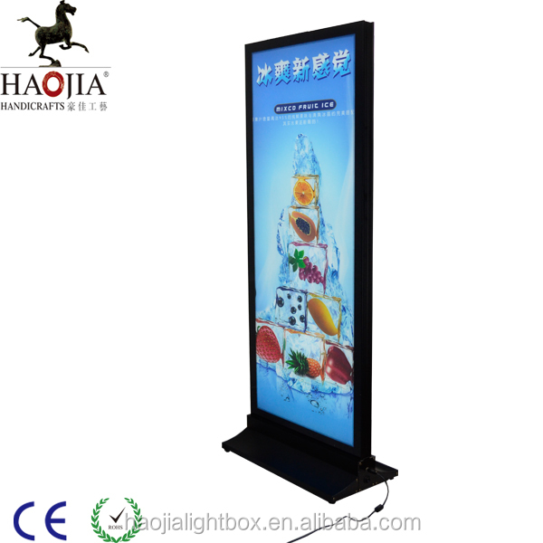 1.2m height floor standing led indoor advertising display light box