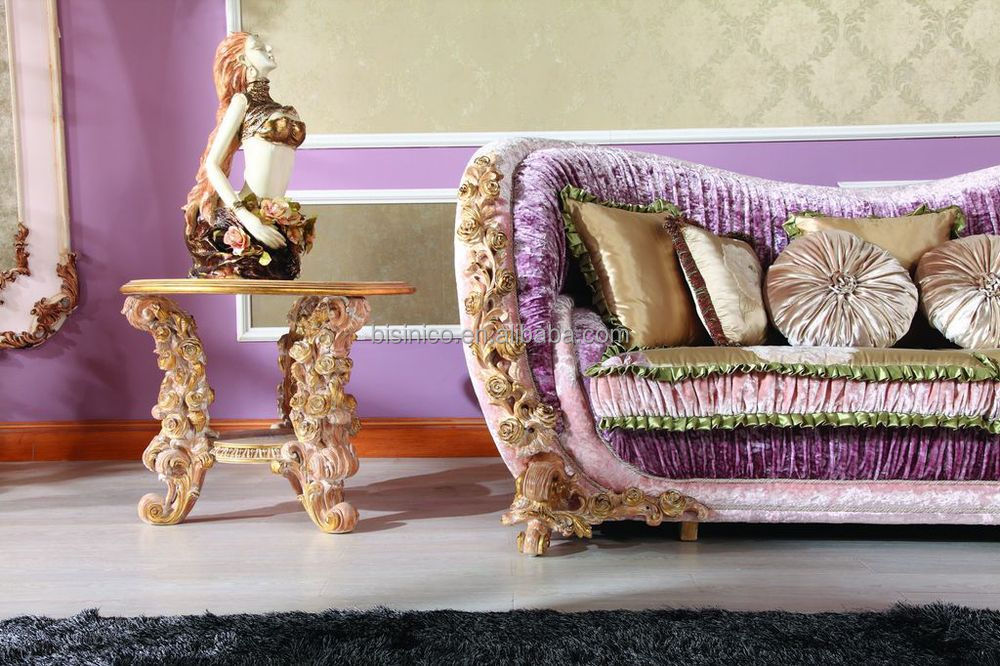 Luxury Italian Royal Living Room Furniture Sofaclassical Rose