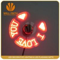 China Factory DIY USB Promotion LED Fan,Self Programmable led Message usb Fan
