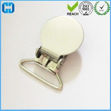 Wholesale Nickle Metal Round Pacifier Suspender Clips Holders Garment Clips