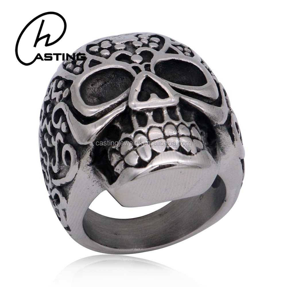 Fashion Jewelry Wholesale Skull Ring Women Stainless Steel