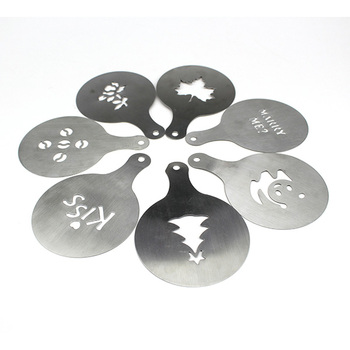 Creative Diffe Shape Stainless Steel Coffee Stencils