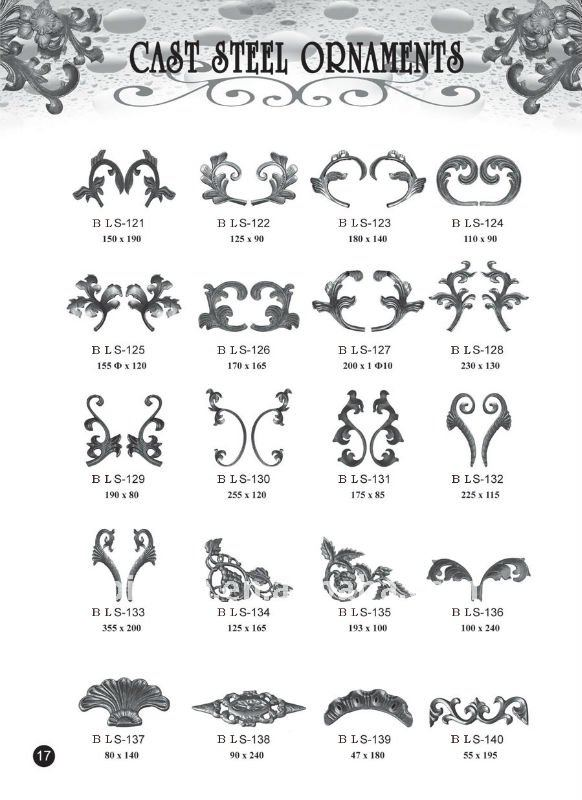 Custom Wrought Iron Fence Ornaments Factory Buy Wrought