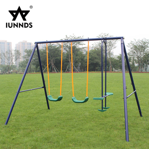 Outdoor garden kids baby face to face glider swing chair