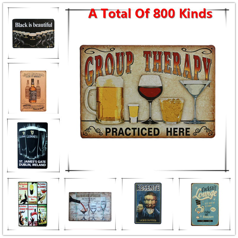 Metal Signs For Home Decor: Aliexpress.com : Buy New Group Therapy Chic Home Bar