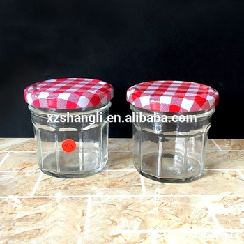 100ml 3 oz canning glass jar for food jam wide mouth and colored lid