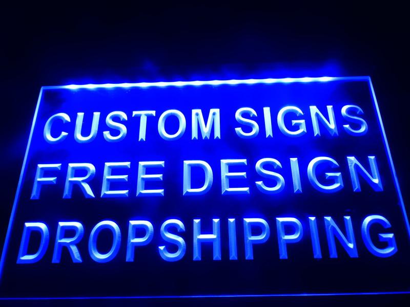 Light Up Signs Custom: Design Your Own Custom LED Neon Light Sign Bar Open
