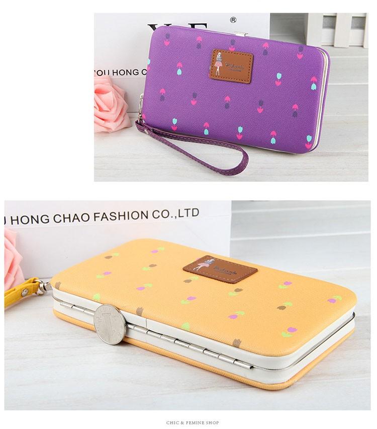 a13680c1e0 Long Women Wallets Famous Brands Designer Female wallet Ladies Cute Women's  Purse Wallet Leather Carteras Card