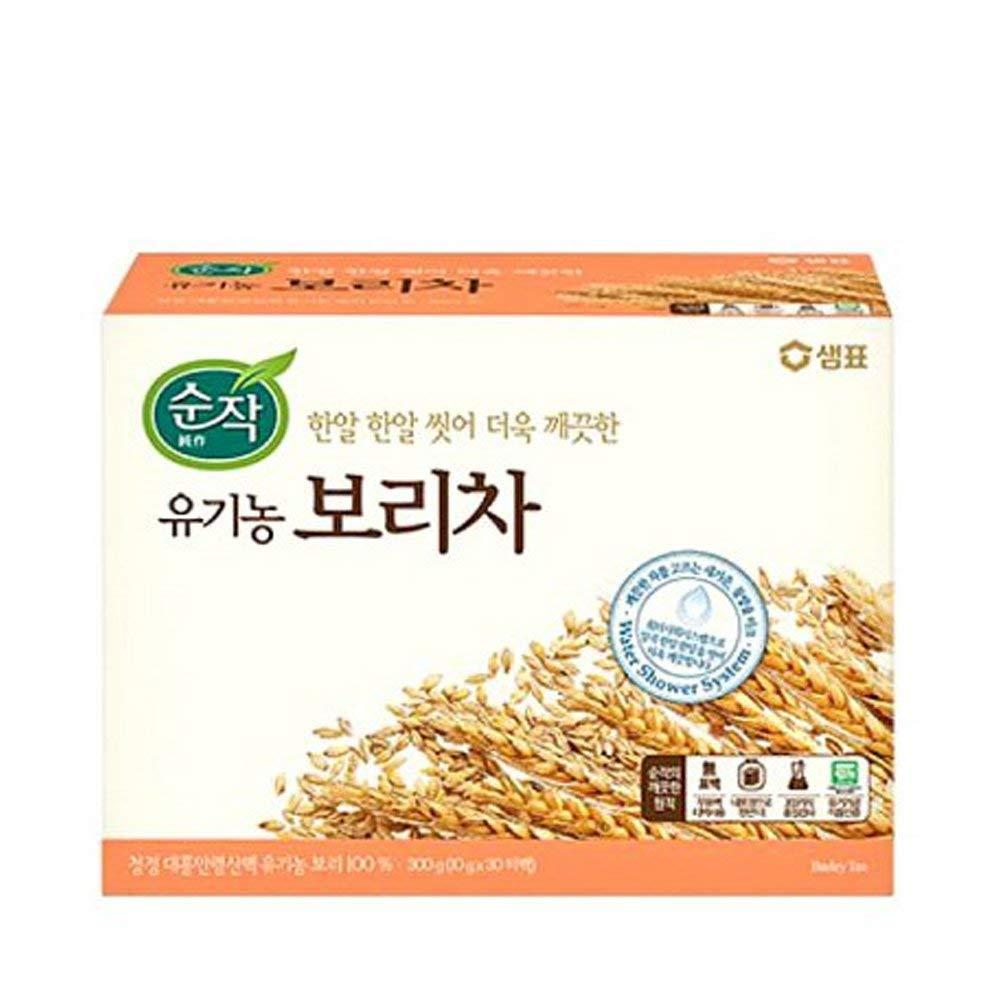 Sam Pyo Sun Jack 100% Organic Barley Tea, 10g X 30 Unbleached Teabags, Sugar Free, Caffeine Free