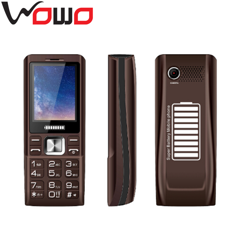 2.4 inch QCIF Screen Mobile Phone 3 SIM Card 3 Standby Power Bank Mobile Phone with 5000mah Battery K3000