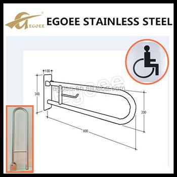 ss 304 316 stainless steel handicap toilet grab bars door handle