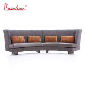 2017 Newest design high back C shape sectional sofa for home and restaurant