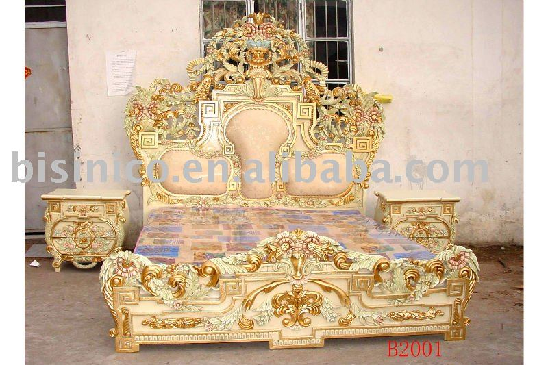 Cool European Classicalu Antique Wooden Luxury Bedroom Setking Size With Bedroom  Sets King
