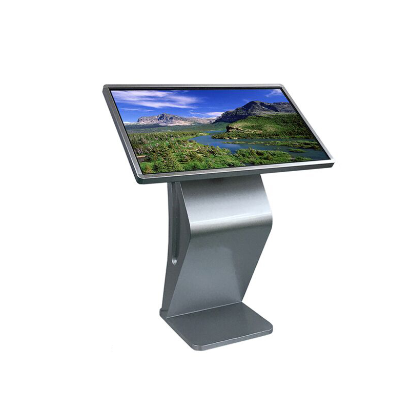 42 inch floor standing interactive LCD touch screen kiosk ,full HD lcd touch screen in built mini PC I3